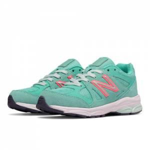 New Balance 888 Kids Grade School Running Shoes - Green / Pink (KJ888GGG)