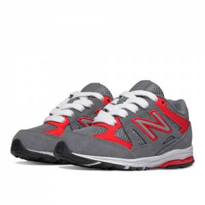 New Balance 888 Kids Infant Running Shoes - Grey / Red (KJ888GRI)