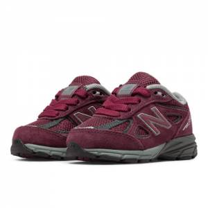 New Balance 990v4 Kids Infant Running Shoes - Red (KJ990BYI)