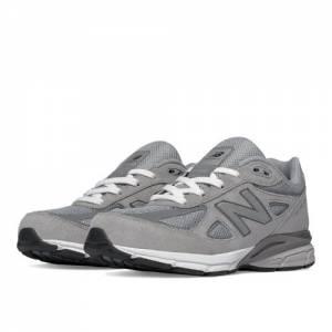New Balance 990v4 Kids Grade School Running Shoes - Grey (KJ990GLG)
