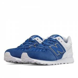 New Balance 574 Breathe Kids Pre-School Lifestyle Shoes - Blue / White (KL574QBP)