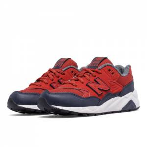 New Balance 580 Kids Pre-School Lifestyle Shoes - Red / Navy (KL580A2P)