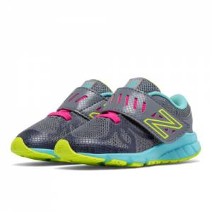 New Balance Hook and Loop 200 Kids Infant Running Shoes - Grey / Blue (KV200RMI)