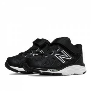 New Balance Hook and Loop 790v6 Kids Infant Running Shoes - Black / White (KV790BKI)