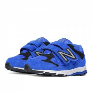 New Balance Hook and Loop 888 Kids Infant Running Shoes - Blue / Black (KV888BBI)