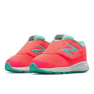 New Balance Hook and Loop Vazee Rush v2 Kids Infant Running Shoes - Pink / Green (KVRUSGPI)