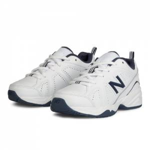 New Balance 624v2 Kids Grade School Cross-Training Shoes - White / Navy (KX624NWY)