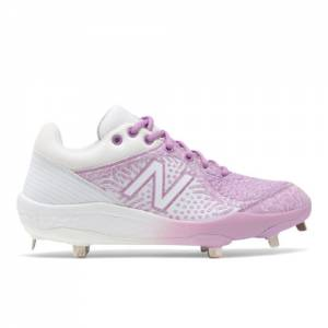 New Balance Fresh Foam 3000v5 Baseball Shoes - White / Pink (L3000AP5)