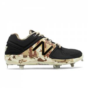 New Balance Memorial Day Low-Cut 3000v3 Men's Low-Cut Cleats Shoes - Black / Off White / Brown (L3000MD3)
