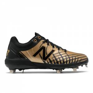 New Balance 4040v5 Precious Metals Men's Cleats and Turf Shoes - Black / Gold (L4040AB5)