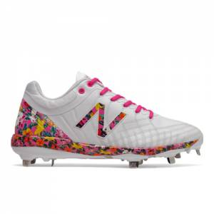New Balance Mothers Day 4040v5 Unisex Cleats Shoes - White / Pink (L4040AP5)