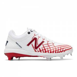 New Balance 4040v5 Hero Men's Cleats and Turf Shoes - White / Red (L4040AS5)