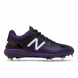 New Balance 4040v5 Men's Cleats and Turf Shoes - Black / Purple (L4040BP5)