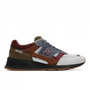 New Balance Made in UK 1530 Scarlet Stone Men's Lifestyle Shoes - White / Red (M1530WBB)