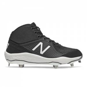 New Balance 3000v5 Fresh Foam Men's Mid-Cut Metal Cleats Baseball Shoes - Black (M3000BK5)