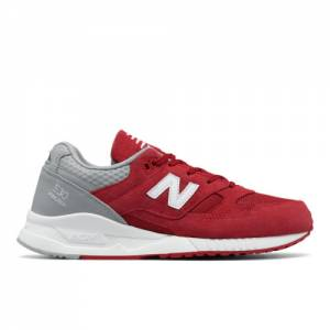 New Balance 530 Suede Men's Running Classics Shoes - Red / Grey (M530SPC)