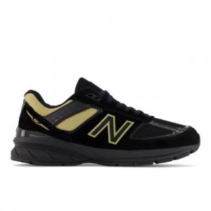 New Balance Made in USA 990v5 Men's Lifestyle Shoes - Black / Gold (M990BH5)