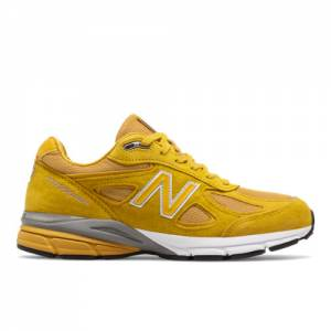 New Balance 990v4 Made in USA Men's Shoes - Yellow / White (M990QK4)
