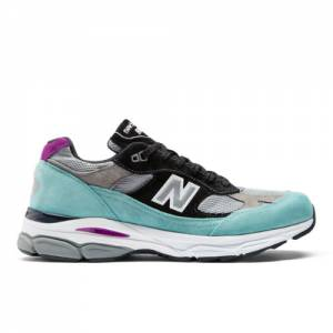 New Balance 991.9 Made in UK Men's Sneakers Shoes - Teal / Grey (M9919EC)