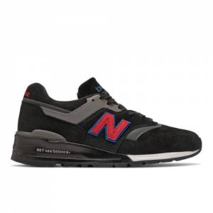 New Balance 997 Made in USA Men's Lifestyle Shoes - Black / Red (M997BB2)