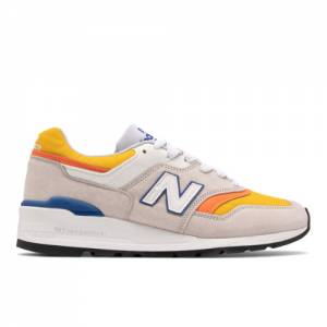 New Balance Made in USA 997 Men's Lifestyle Shoes - Grey / Orange (M997PT)