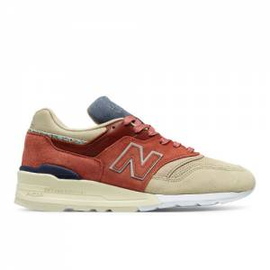 New Balance 997 Stance x NB FIRST OF ALL Men's Made in USA Shoes - Red / Tan (M997ST)