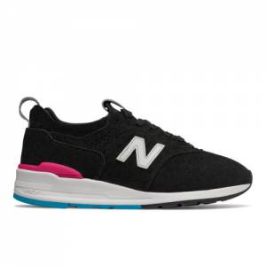 New Balance 997R Men's Made in USA Sneakers Shoes - Black / Pink (M997VB2)