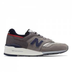 New Balance x Woolrich 997 Men's Made in USA Shoes - Grey / Navy / Red (M997WL)