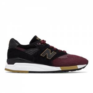 New Balance Made in US 998 NYC Marathon Men's Made in USA Shoes - Dark Red / Black (M998NYM)