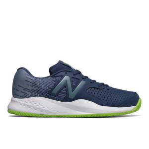 New Balance 696v3 Men's Tennis Shoes - Navy / Green (MC696PI3)