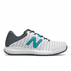 New Balance 696v4 Men's Tennis Shoes - White / Grey (MCH696B4)