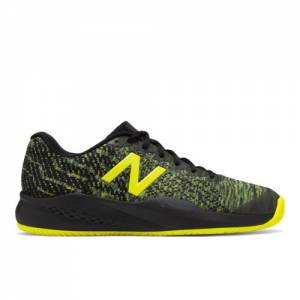 New Balance 996v3 Men's Tennis Shoes - Black / Yellow (MCH996S3)