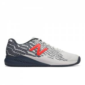 New Balance 996v3 Men's Tennis Shoes - White / Navy (MCH996U3)