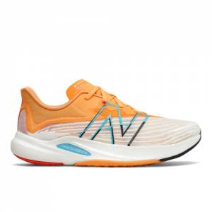 New Balance FuelCell Rebel v2 Men's Running Shoes - White / Orange (MFCXLG2)