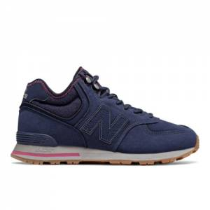 New Balance 574 Mid Lifestyle Unisex Shoes - Navy / Purple (MH574RDE)