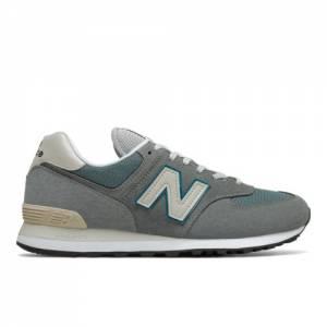 New Balance Unisex 574 Lifestyle Shoes - Grey / Blue (ML574BA2)