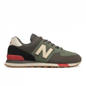 New Balance 574 Men's Classics Lifestyle Shoes - Green (ML574JHR)
