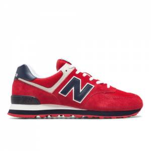 New Balance 574 Men's Shoes - Red (ML574MUE)