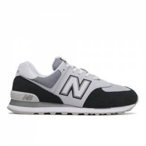 New Balance 574 Men's Running Classics Shoes - Black / White (ML574NLC)