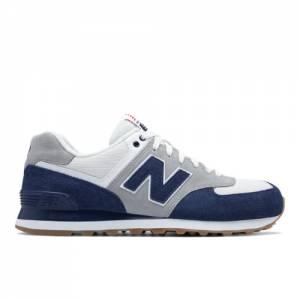 New Balance 574 Retro Sport Men's 574 Sneakers Shoes - Navy / Silver (ML574RSC)