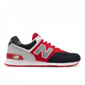 New Balance 574 Men's Running Classics Shoes - Black / Red (ML574SA1)