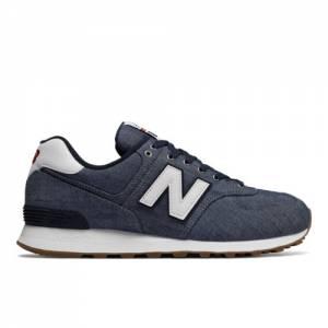 New Balance 574 Beach Chambray Men's 574 Shoes - Vintage Indigo / White (ML574YLE)