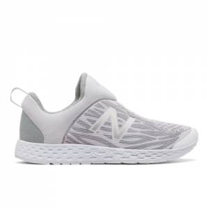 New Balance Fresh Foam Zante Slip-on Men's Sport Style Sneakers Shoes - White / Grey (MLSZANTW)