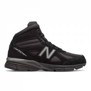 New Balance Made in USA 990v4 Mid Men's Shoes - Black / Grey (MO990BK4)