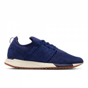 New Balance 247 Luxe Leather Men's Sport Style Shoes - Blue (MRL247BA)