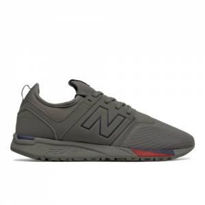New Balance 247 Classic Men's Sport Style Shoes - Grey / Red (MRL247GN)