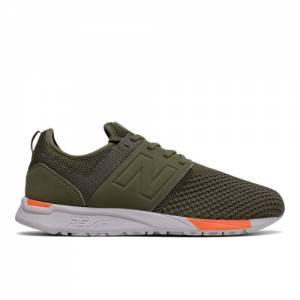 New Balance 247 Sport Men's Sport Style Shoes - Dark Green / Orange (MRL247KO)