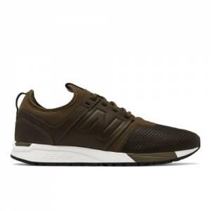 New Balance 247 Leather Men's Sport Style Shoes - Dark Green / White (MRL247NO)