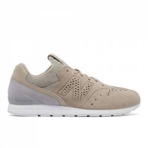 New Balance 696 Re-Engineered Men's Sport Style Sneakers Shoes - Tan / Grey (MRL696DJ)