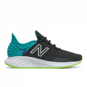New Balance Fresh Foam Roav Men's Running Shoes - Black / Green (MROAVCB)